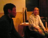2007.02.26なんと2年前のストリートライブで出会ったお客様!と村山義光氏