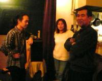 2007.03.07.LIVE前の村山義光氏、小柳淳子さん。@茶碗さん