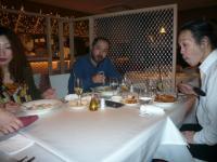 LIVE終了後は升本さんのお姉さんからのおごりで晩ご飯