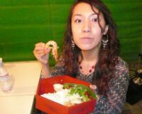 vo森川奈菜美さんはお弁当を食べて