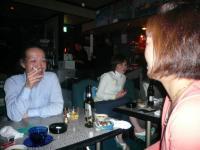 LIVE後の反省会?村山義光氏と北橋美輪子さん