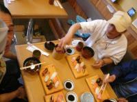 お疲れさん会は激安お寿司。美味しかった~。
