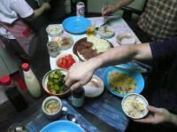 夕食。いつも奥ちゃまにはお世話になりっぱなし。
