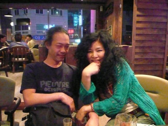 5/15 深夜のレストランバーにてg村山義光氏voウンサンさん