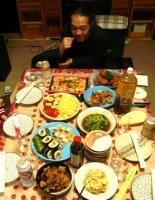 夕食は@茶碗さん奥ちゃまの手料理を頂きました