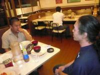 ご食事中の二番弟子さんとg村山義光氏