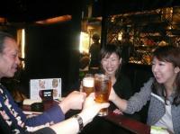 乾杯。g村山義光氏、フルート久家奈々子さん、p岩崎 恵さん