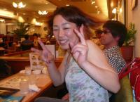 vo北橋美輪子さん、お疲れ様でした。本人さんもこの笑顔。楽しかったもんね~。いろいろご馳走様でした。