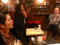 休憩時間のお客様のみほけさん、d高野正明さん、g村山義光氏