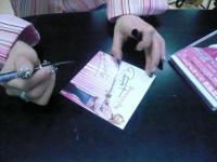 vo藤村麻紀さんのサイン
