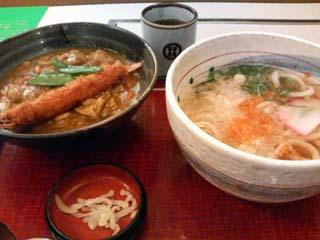 海老フライカレー丼定食