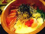魚松海鮮丼。