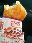 A&W(エイアンドダブリュ)のハムチーズサンドセット。