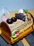大橋の菓子工房ミレイユ1991のクリスマスロールケーキ。
