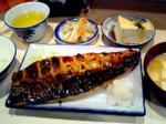 天神の水鏡天満宮横 サバ専門店 真で鯖の一枚焼定食ランチ。
