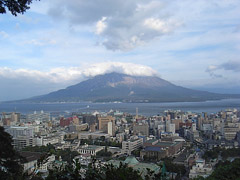 鹿児島市内を一望!城山で観光。