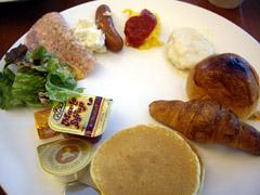札幌グランドホテルの朝食。