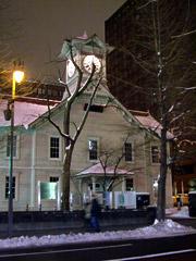 札幌時計台とさっぽろテレビ塔とさっぽろホワイトイルミネーション。