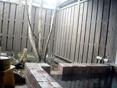 平山温泉のほたるの長屋で家族湯。