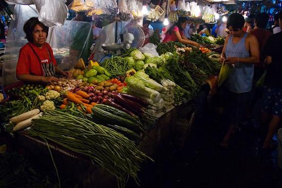 タフト沿いのマーケット