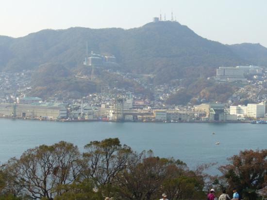 長崎港入り口