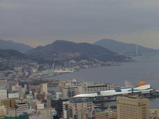 立山から見た長崎港