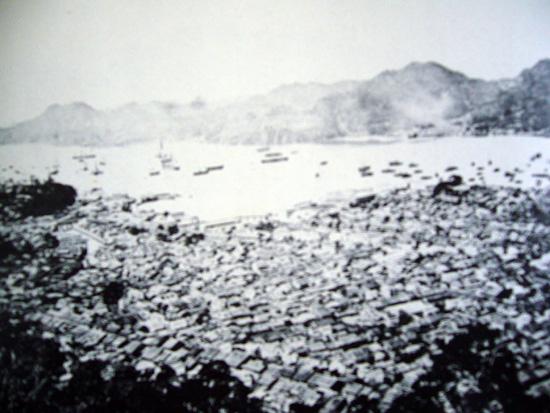 風頭から見た長崎