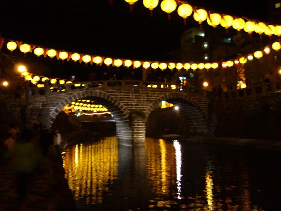 夜の眼鏡橋