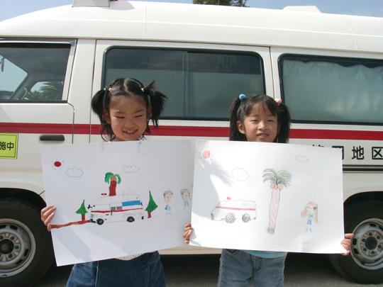 消防車写生大会 3