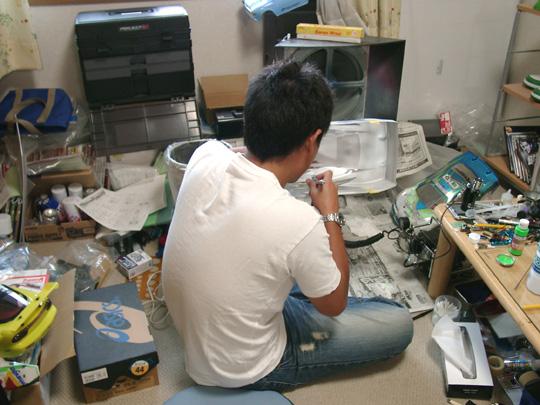 2007.6.14OH!月エアブラシ修行