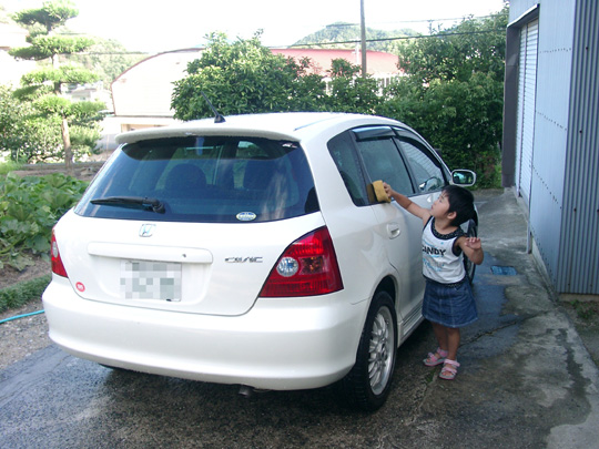 2007.7.15真由と洗車 2