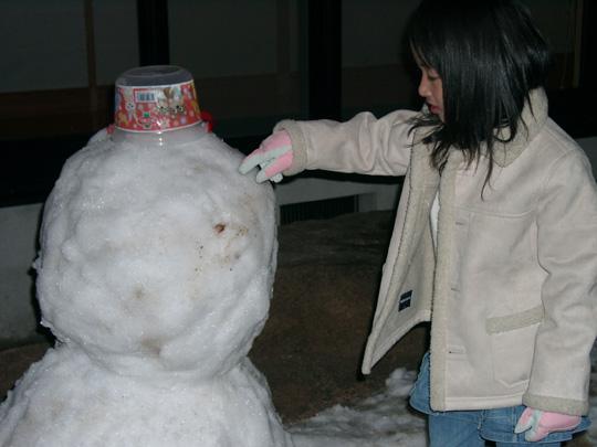 2008.1.29雪だるま 1