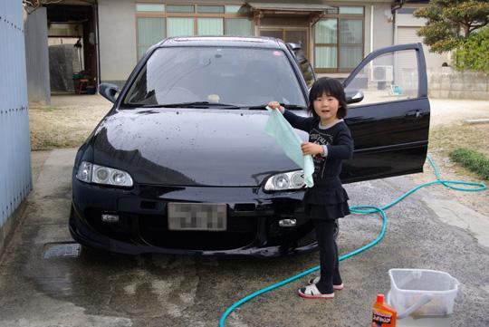 2008.3.23フェリオ洗車 1
