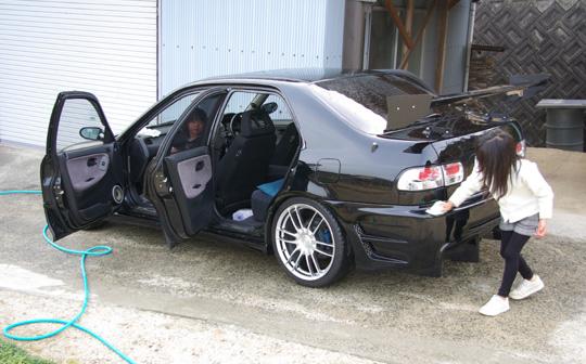 2008.3.23フェリオ洗車 2