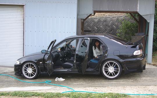 2008.3.23フェリオ洗車 4