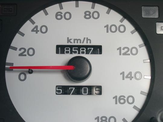 2008.3.29フェリオ最終走行距離