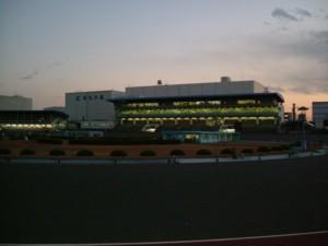 レース後の走路