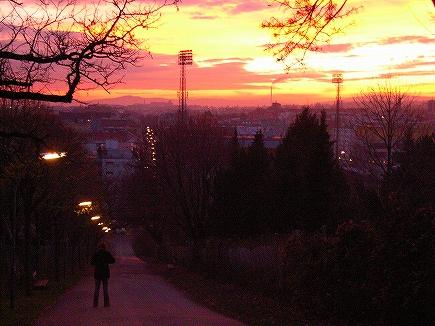 ウィーンの夕焼1