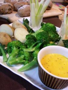 野菜とアイヨリソース