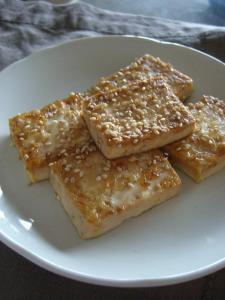 豆腐のゴマソテー