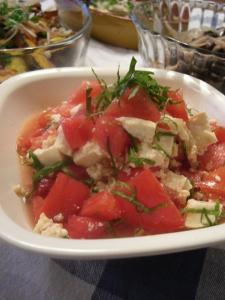 トマトとすいか、豆腐のサラダ