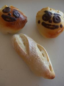 クリームパンダとフランスパン