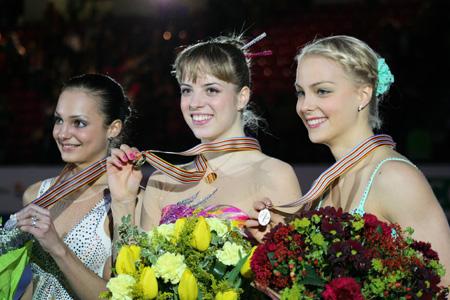 2007年ヨーロッパ選手権女子シングル表彰台
