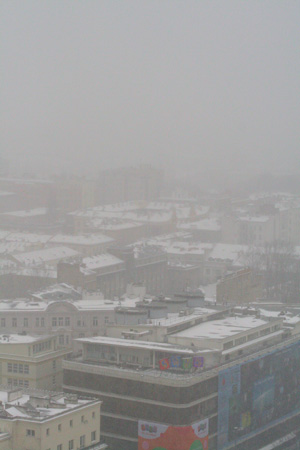 雪のワルシャワ