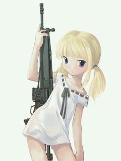 金髪ロリと機関銃