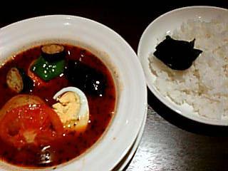 スープカレー「心」:5番(辛さ)に挑戦?