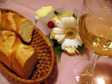 ワインとパン