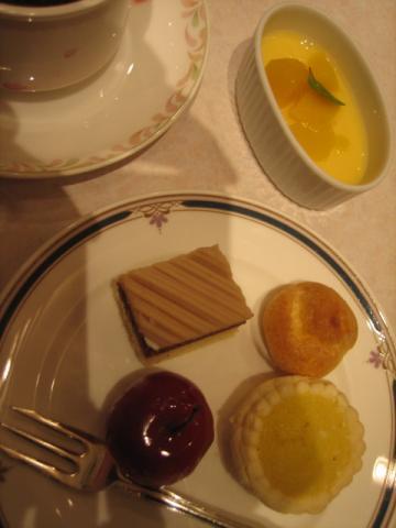 ホテルのデザート