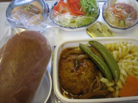 成田ロンドン 機内食