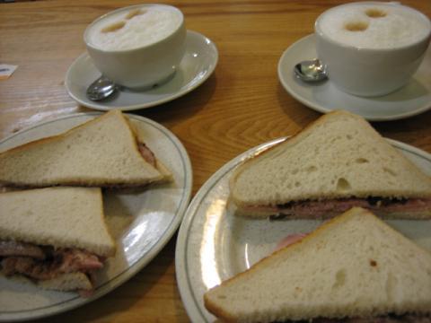 オックスフォードのカフェ サンドイッチ